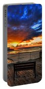 sunset at the port of Tel Aviv Portable Battery Charger