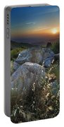 Sunset At The Windy Mountains Portable Battery Charger