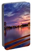 Sunset Balcony Of The West Palm Beach Skyline Portable Battery Charger