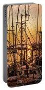 Sunset Boat Masts At Dock Morro Bay Marina Fine Art Photography Print Sale Portable Battery Charger