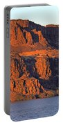 Sunset Cliffs At Horsethief  Portable Battery Charger by Talya Johnson