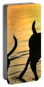 Sunset Dogs  Portable Battery Charger by Laura Fasulo