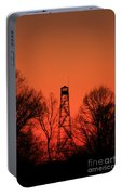 Sunset Fire Tower In Oconee County Portable Battery Charger