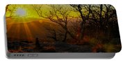Sunset From Blood Mountain Portable Battery Charger