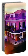 Sunset From The Balcony In The French Quarter Of New Orleans Portable Battery Charger