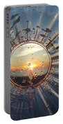 Adelaide Beach Sunset Glass Portable Battery Charger