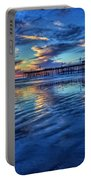 Sunset In Blue Portable Battery Charger