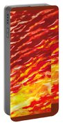 Sunset In Desert Abstract Collage  Portable Battery Charger