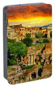 Sunset In Rome Portable Battery Charger