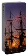 Sunset In San Diego Harbor Portable Battery Charger