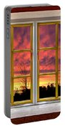 Sunset In The Garden Portable Battery Charger