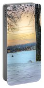 Sunset In The Snow Portable Battery Charger
