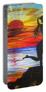 Sunset Kiss Portable Battery Charger