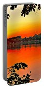 Sunset Leaves Portable Battery Charger
