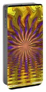 Sunset Of Sorts Portable Battery Charger by Elizabeth McTaggart