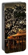 Sunset On A Texas Drought Portable Battery Charger