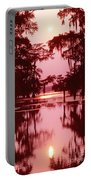 Sunset On The Bayou Atchafalaya Basin Louisiana Portable Battery Charger