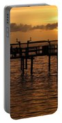 Sunset On The Dock Portable Battery Charger