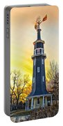 Sunset On The Dwight Windmill Portable Battery Charger