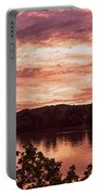 Sunset On The Ohio River  Portable Battery Charger
