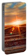 Sunset On The Rails Portable Battery Charger