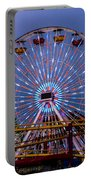 Sunset On The Santa Monica Ferris Wheel Portable Battery Charger