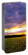 Sunset Over Farmland Portable Battery Charger
