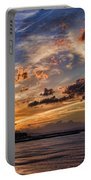 Sunset Over Rethymno Crete Portable Battery Charger