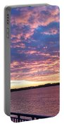 Sunset Over Verrazano Bridge And Narrows Waterway Portable Battery Charger