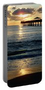 Sunset Pier Portable Battery Charger by Carey Chen