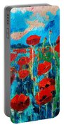 Sunset Poppies Portable Battery Charger