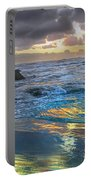 Sunset Reflections Portable Battery Charger by Robert Bales