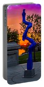 Sunset Sculpture Portable Battery Charger