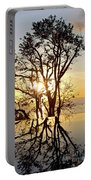 Sunset Silhouette And Reflections Portable Battery Charger