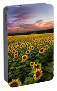 Sunset Sunflowers Portable Battery Charger
