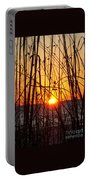 Sunset Through Grasses Portable Battery Charger