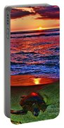 Sunset Turtle By Diana Sainz Portable Battery Charger