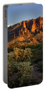 Sunset View Of The Superstitions  Portable Battery Charger