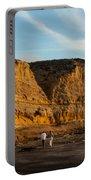 Sunset Walk At Flat Rock  La Jolla California Portable Battery Charger