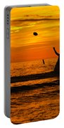 Sunset Water Football Portable Battery Charger