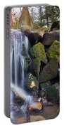 Sunset Waterfalls In Marlay Park Portable Battery Charger