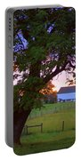 Sunset With Tree Portable Battery Charger