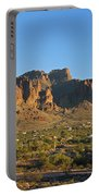 Superstition Mountain In The Evening Sun Portable Battery Charger