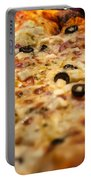 Supreme Meat Works Pizza  Sliced And Ready To Eat Portable Battery Charger