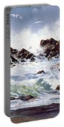 Surf At Lincoln City Portable Battery Charger