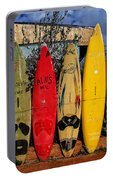 Surf Board Fence Maui Hawaii Portable Battery Charger