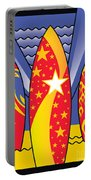 Surf Boards Retro Art Deco Portable Battery Charger