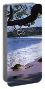 Surf On The Beach, Mauna Kea, Hawaii Portable Battery Charger