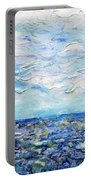 Surf Study Portable Battery Charger by Regina Valluzzi