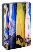 Surfboard Fence Maui Hawaii Portable Battery Charger by Edward Fielding